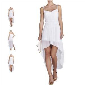 BCBGMaxAzria Annamae Bustier Hi Low Dress White XS
